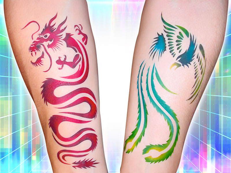 Temporary Tattoo Artist Rental