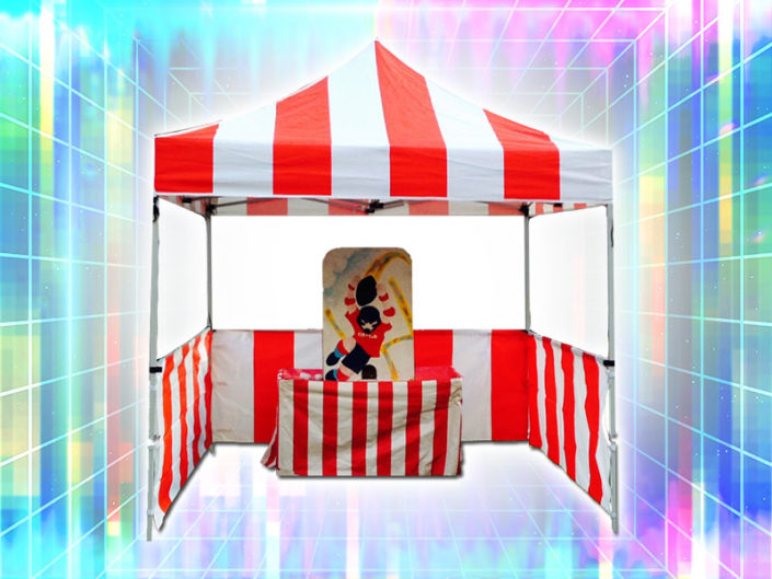 Red & White Carnival Tent ($125)