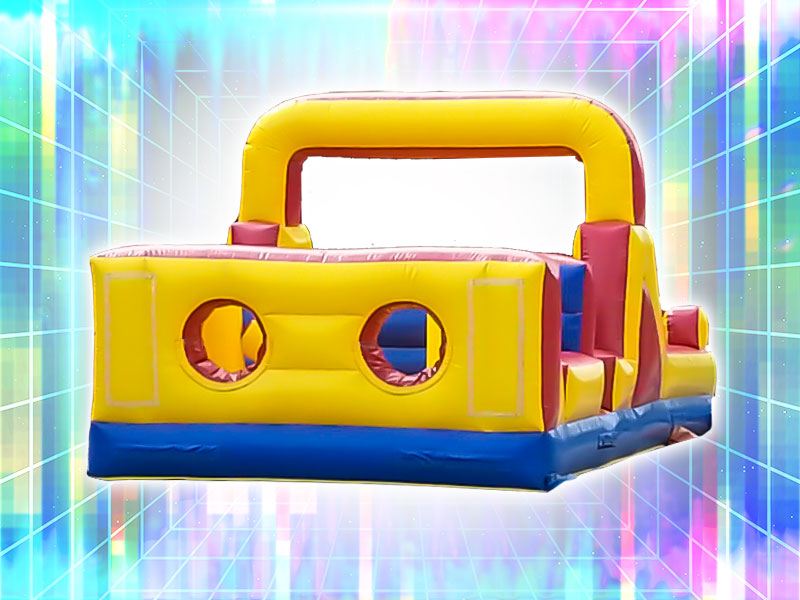 2 Player Colorful Inflatable Obstacle Course Rental