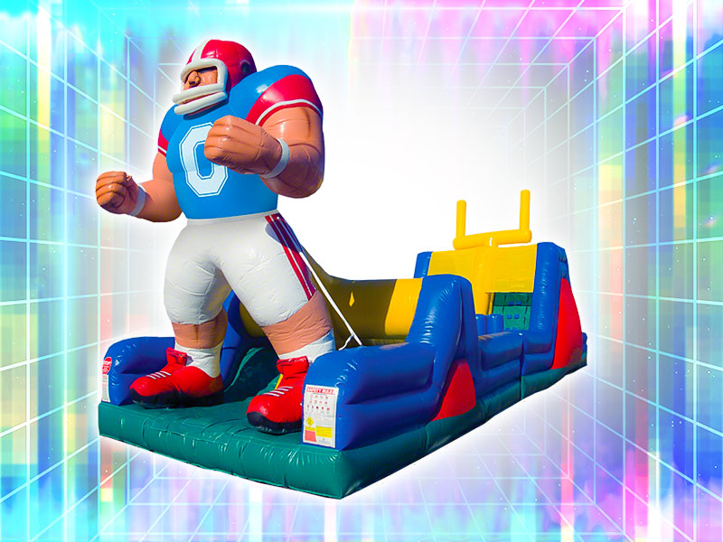 Inflatable Football Obstacle Course Rental
