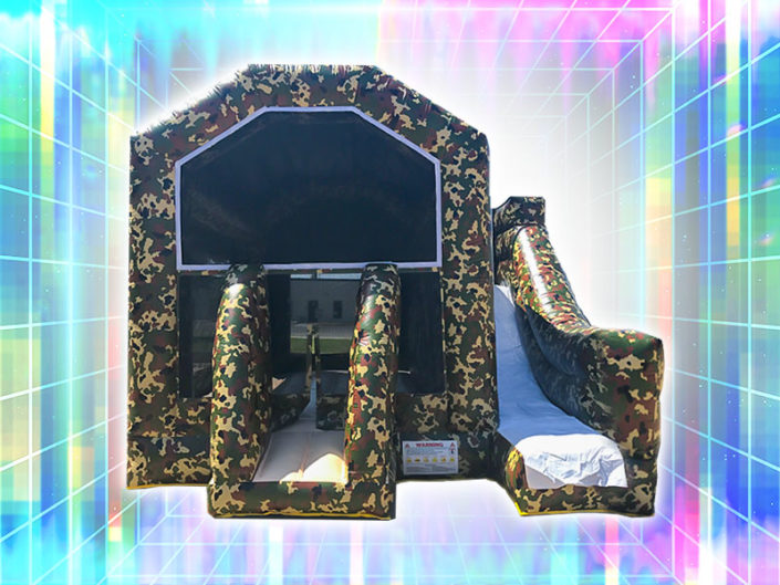 Camouflage Bounce House Combo ($225)