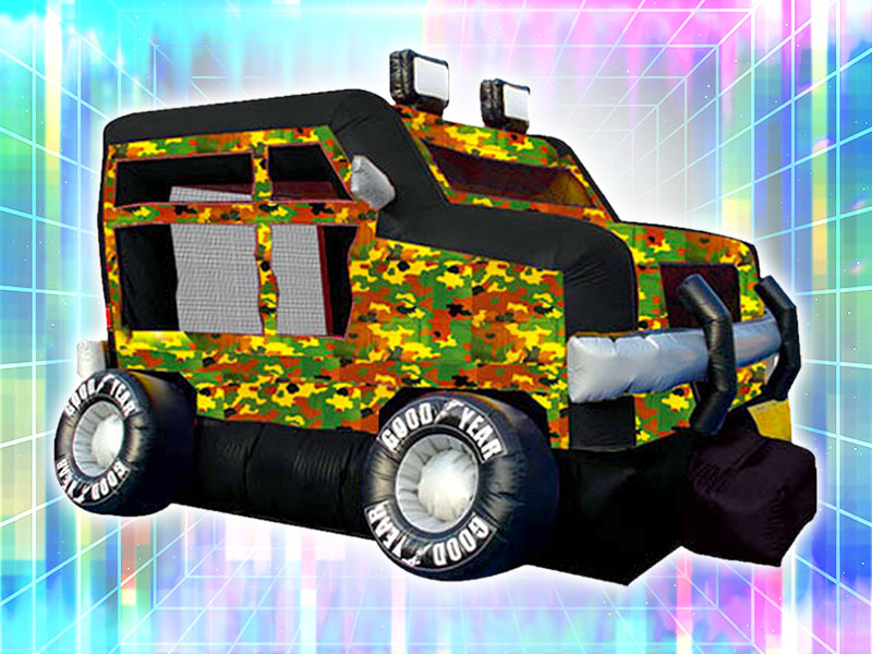 Camo Truck Bounce Castle Rental