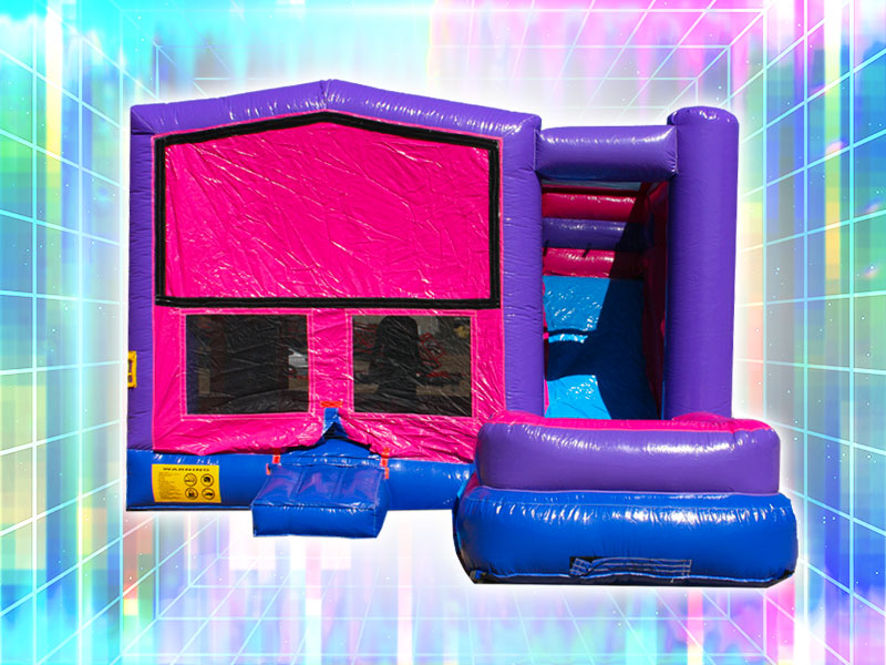 Inflatable Bounce Castle Rental Pink