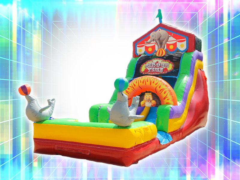 Circus Themed Inflatable Slide