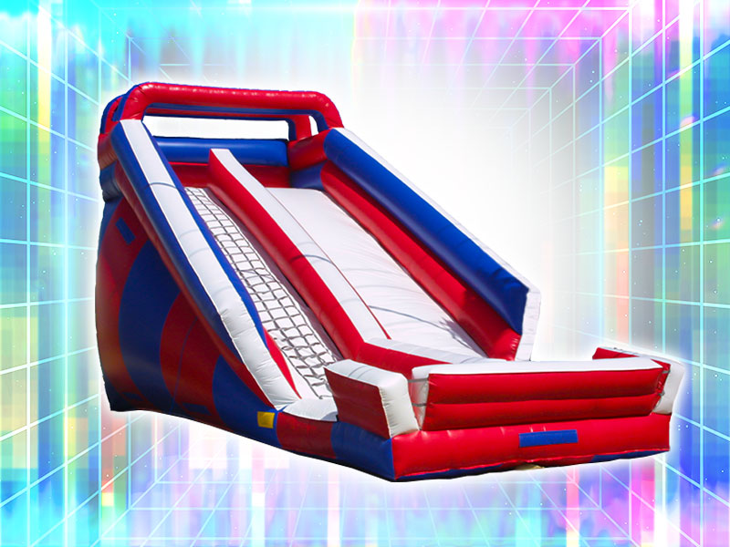 Red, White, and Blue Inflatable Slide Rental