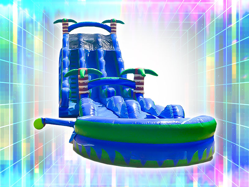 Inflatable Water Slide Rental Tropical